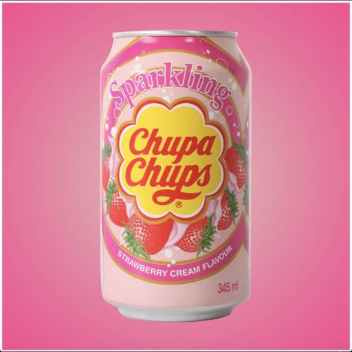 Крем сода Chupa Chups с ягода, 345мл